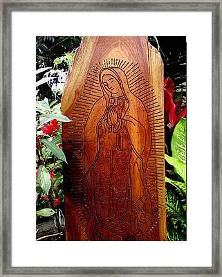 Virgen De Guadalupe Framed Print by Calixto Gonzalez