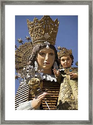 Virgen De Los Desamparados Framed Print
