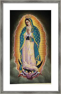 Virgen Framed Print by Kasper Castillo