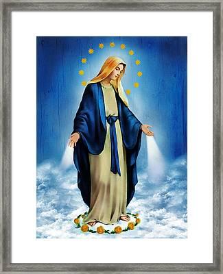 Virgen Milagrosa Framed Print by Bibi Romer