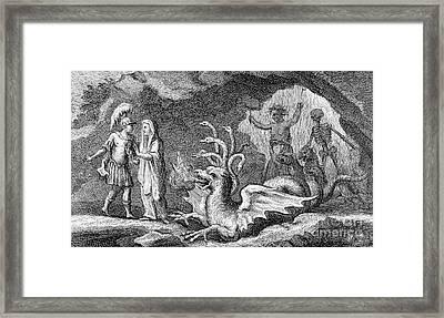 Virgils Aeneid, Scene With Cumaean Sibyl Framed Print by Wellcome Images