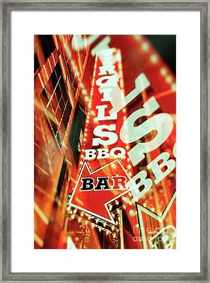 Virgils Real Bbq New York City Framed Print