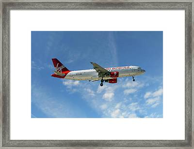 Virgin America Airbus A320-214 Framed Print
