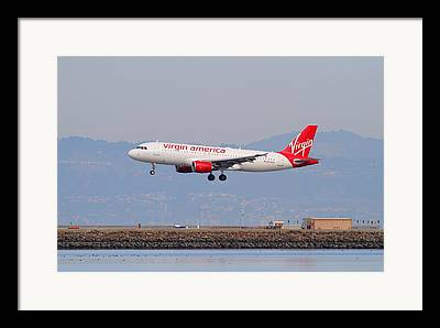 Virgin America Airlines Framed Prints