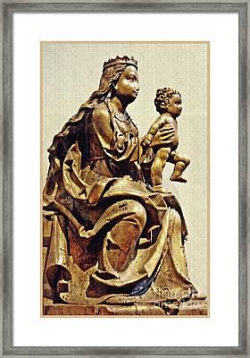 Virgin And Child Bavarian Framed Print by Sarah Loft