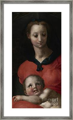 Virgin And Child, Known As The Madonna Del Libro Framed Print by Jacopo Pontormo