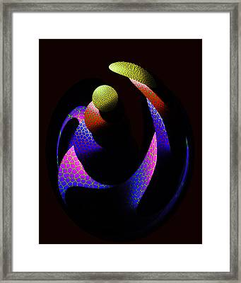 Virgin And Child Framed Print by Tony Marquez