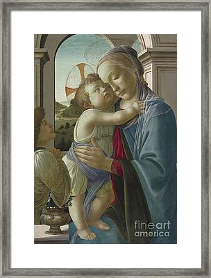 Virgin And Child With An Angel Framed Print by Botticelli