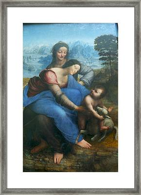 Virgin And Child With St Anne Framed Print