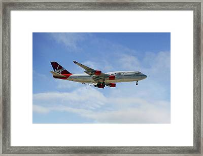 Virgin Atlantic Boeing 747-443 Framed Print