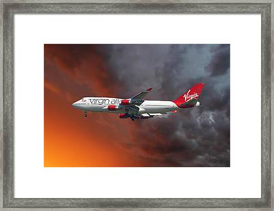 Virgin Atlantic Framed Print