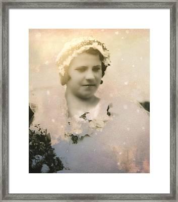 Virgin Bride Framed Print by Shirley Sirois