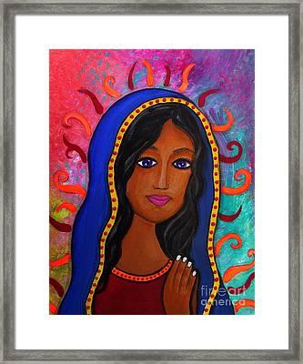 Virgin De Guadalupe Framed Print by Pristine Cartera Turkus
