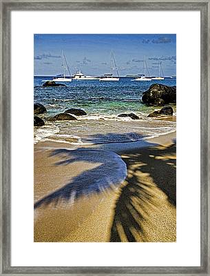Virgin Gorda Beach Framed Print by Dennis Cox WorldViews