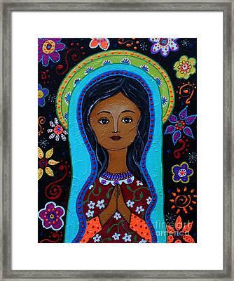 Virgin Guadalupe 10 Framed Print by Pristine Cartera Turkus