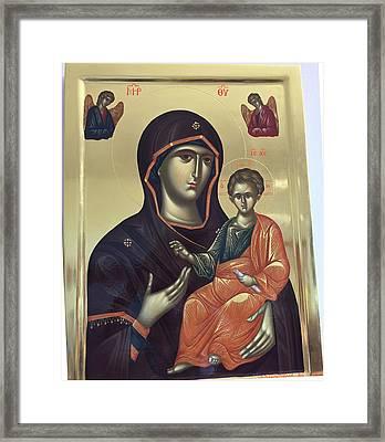 Virgin Hodegetria Framed Print by George Lemo