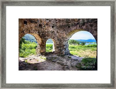 Virgin Island Sugar Plantation Ruins Framed Print