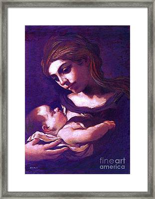 Virgin Mary And Baby Jesus, The Greatest Gift Framed Print