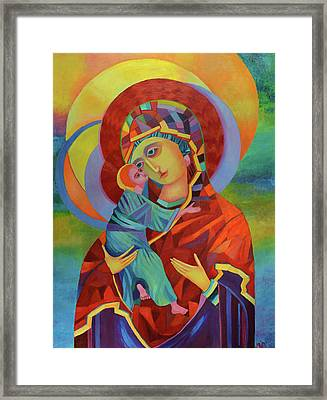 Virgin Mary And Child Jesus Framed Print by Magdalena Walulik