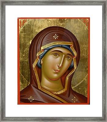 Virgin Mary Framed Print by Daniel Neculae