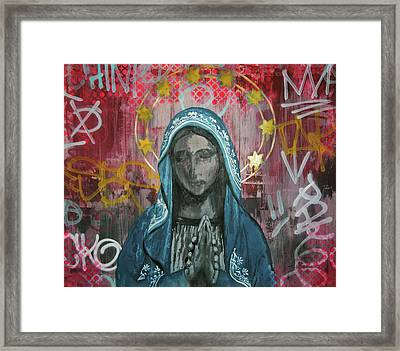 Virgin Mary Framed Print by Mike Patino