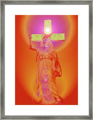 Virgin Mary No. 01 Framed Print by Ramon Labusch