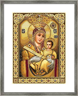Virgin Mary Of Bethlehem Icon Framed Print by Stoyanka Ivanova