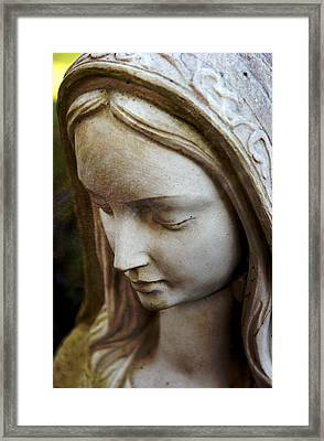 Virgin Mary Framed Print by Off The Beaten Path Photography - Andrew Alexander