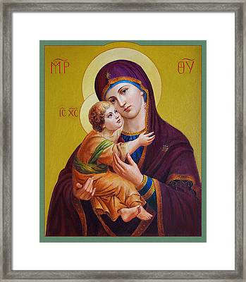 Virgin Of Silver Spring - Theotokos Framed Print by Svitozar Nenyuk