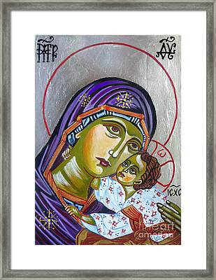 Virgin Of Tenderness Eleusa Framed Print by Ryszard Sleczka