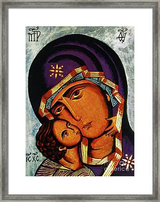 Virgin Of Tenderness II Framed Print by Ryszard Sleczka