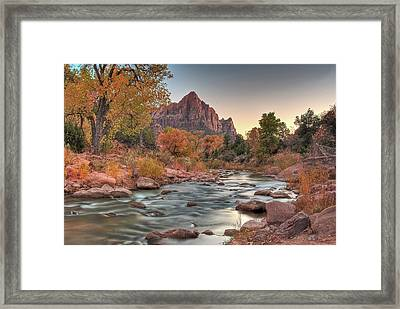 Virgin River And The Watchman Framed Print
