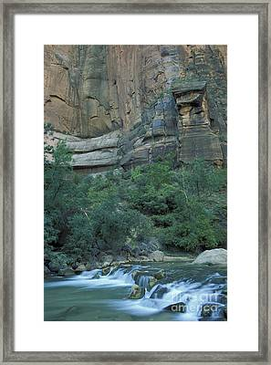Virgin River In Zion 1 Framed Print by Stan and Anne Foster