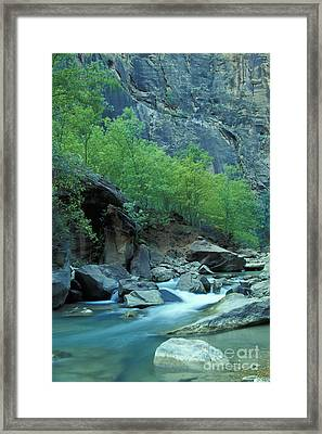 Virgin River In Zion 2 Framed Print by Stan and Anne Foster