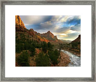 Virgin River Sunset Framed Print