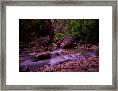 Virgin River The Narrows Zion National Park Framed Print by Scott McGuire