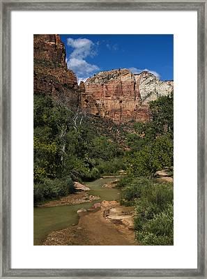 Virgin River View - Zion - Utah Framed Print by Nikolyn McDonald