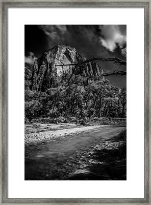Virgin River Zion National Park Framed Print by Scott McGuire