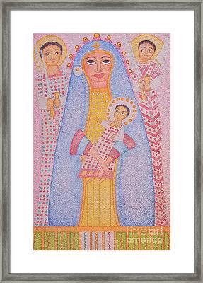 Virgin Saint Mary And Her Son Framed Print