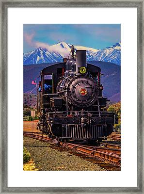 Virgina Truckee Locomotive Framed Print