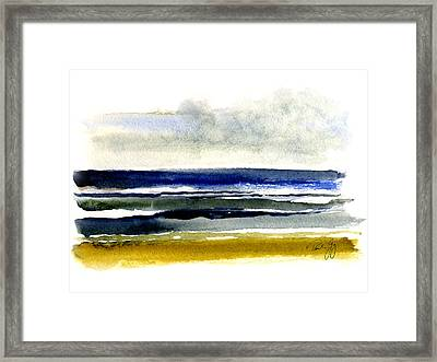 Virginia Beach After The Storm Framed Print