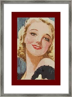 Virginia Bruce Framed Print by James Hill
