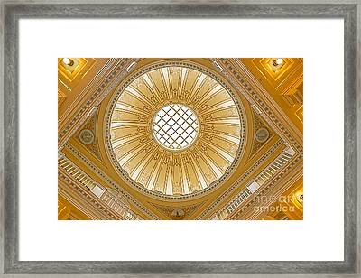Virginia Capitol - Dome Framed Print