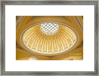 Framed Print featuring the photograph Virginia Capitol - Dome Profile by Jemmy Archer
