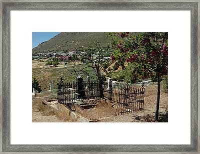 Virginia City Cemetery Broken Gate Framed Print by LeeAnn McLaneGoetz McLaneGoetzStudioLLCcom
