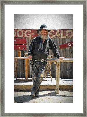 Virginia City Cowboy Framed Print