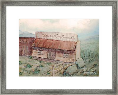 Virginia City Mining Co. Framed Print