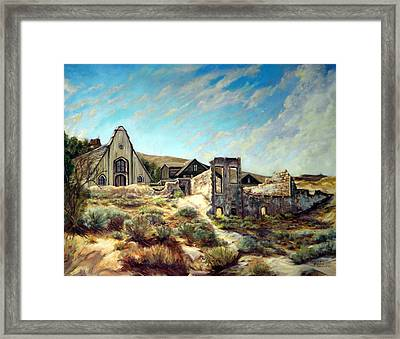 Virginia City Nevada II Framed Print by Evelyne Boynton Grierson