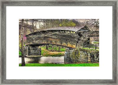 Virginia Country Roads - Humpback Covered Bridge Over Dunlap Creek #14a - Spring, Alleghany County Framed Print by Michael Mazaika