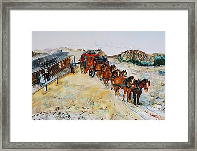 Virginia Dale Stage House Framed Print by Anderson R Moore
